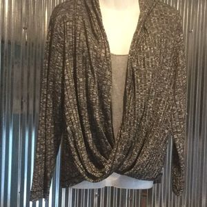 JUICY COUTURE DRAPE FRONT HOODIE   MARLED COLOR XL